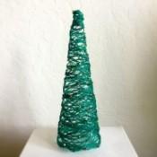 Mini String Christmas Tree - finished green string Christmas tree