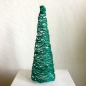 Mini String Christmas Tree - finished green string Christmas tree
