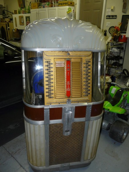 An old fashioned AMI Model 500 Juke Box
