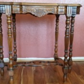 Value of Mersman Entry Table - 5066 1/2 - ornate entry table with turned legs