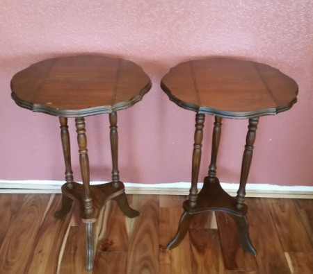 Value of Two Inlaid Wood Tables - two wood tables