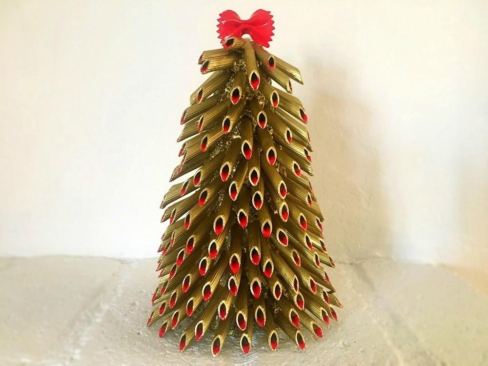 Making A Pasta Christmas Tree Thriftyfun