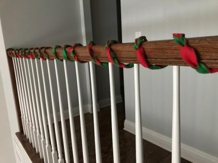 Easy Christmas Felt Garland or Bracelet - longer length for garland wrapped on stair rail
