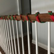 Easy Christmas Felt Garland or Bracelet - longer length for garland wrapped on stair rail