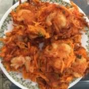 Fried Sweet Potato and Shrimp Cakes