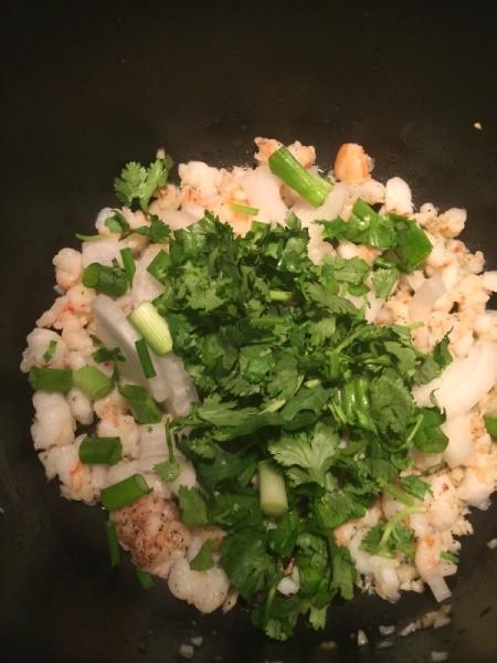 Luffa, Mushroom and Shrimp Stir Fry