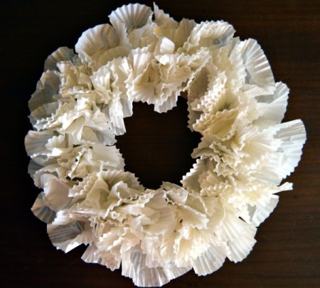 Christmas Eve Pillar Candle  Decoration - completely covered wreath