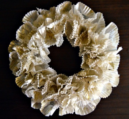 Christmas Eve Pillar Candle Decoration - use dry brush and gold dusting powder in some areas of the wreath