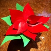 Making a Duct Tape Poinsettia - finished flower