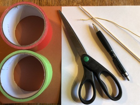 Making a Duct Tape Poinsettia - supplies