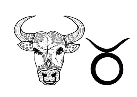 Taurus Adult Coloring Page