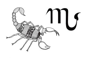 Scorpio Adult Coloring Page