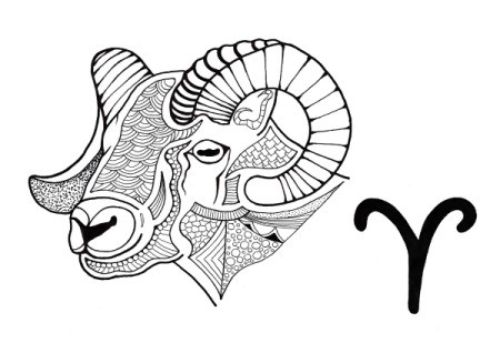 Aries Adult Coloring Page
