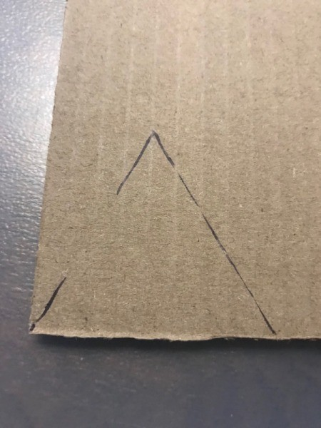 Christmas Triangle Candy Box - Ornament  - draw the triangle shape on cardboard