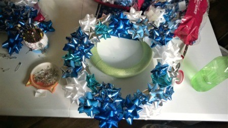 Happy Bow Wreath - totally covered wreath