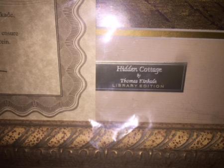 Thomas Kinkade Hidden Cottage Library Edition