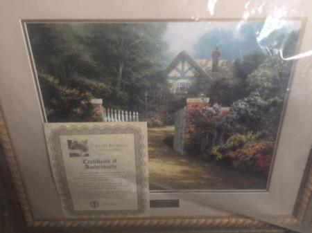 Thomas Kinkade Hidden Cottage Library Edition - wrapped print