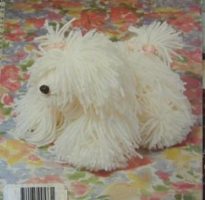 Pattern for Yarn Dog - white yarn dog