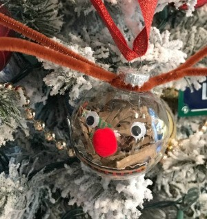 Cute Reindeer Ornament - ornament hanging on the tree