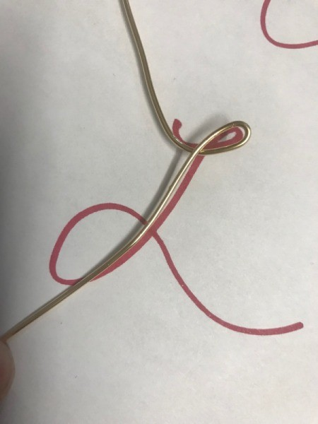 Wire Gift Tag Charm and Ornaments -  use written letters as a guide to bend the copper wire