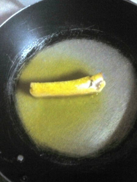dipping Bread Sticks in butter