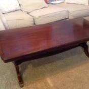Value of a Mersman 8726 Coffee Table  - mahogany finish coffee table