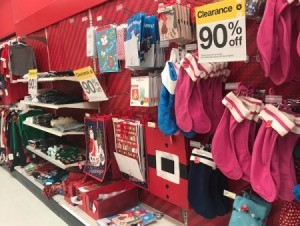 Items on sale after Christmas.