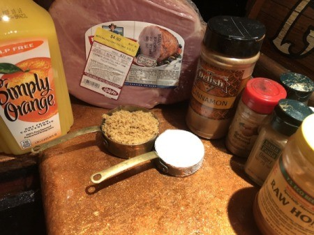 Honey Baked Ham ingredients