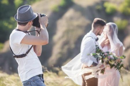 Student Photographer Shooting Wedding