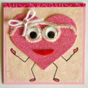 """Wide-Eyed Over You"" Valentine Card"