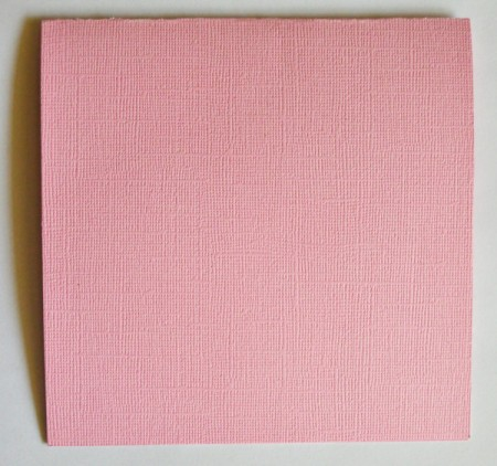 """Wide-Eyed Over You"" Valentine Card - score pink paper to create the card"