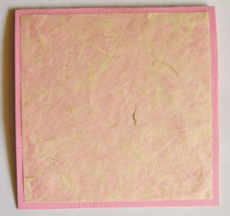 """Wide-Eyed Over You"" Valentine Card - with fold at top center and glue on tissue paper"