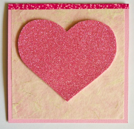 """""""Wide-Eyed Over You"""" Valentine Card - trace and cut out foam heart, glue to front of card"""