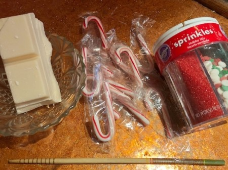 Candy Cane Hearts - supplies