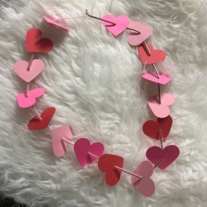 Heart Shaped Leis - finished lei