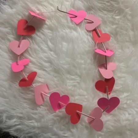 Heart Shaped Leis - string of hearts with straw segments between