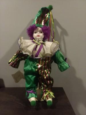 Value of a Betty Jane Carter Musical Porcelain Doll - clown doll