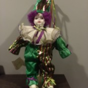 Value of a Betty Jane Carter Musical Porcelain Doll - clown doll