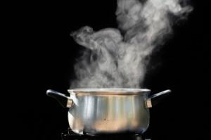 Steam Above Pot