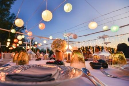 Wedding Reception Dinner Setting