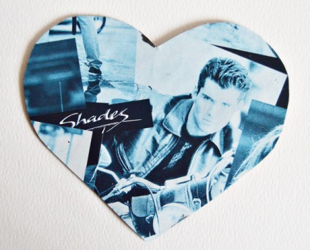 Hubby's Valentine Day Tot or Shooter Box - cover the back of the bigger heart with gift wrap