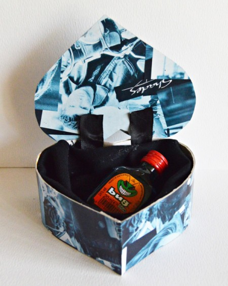 Hubby's Valentine Day Tot or Shooter Box - add tot or shooter bottle