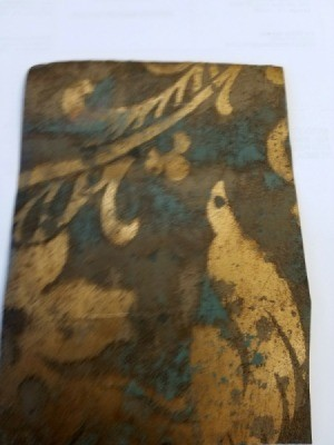 Finding Discontinued Wallpaper - brown, gold, and blue somewhat floral pattern