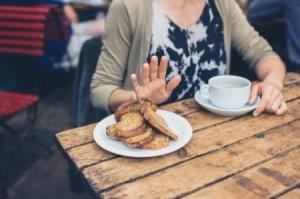 Woman Avoiding Eating Wheat