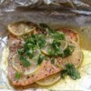 Honey Lime Salmon on foil
