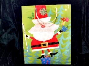 A Santa gift bag.