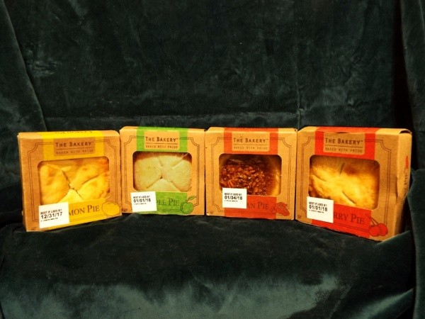Assorted individual pies.