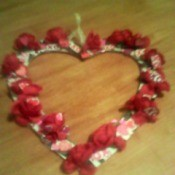 Valentine's Day Wreath - finished wreath