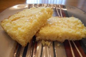 Indian Summer Cornbread on plate