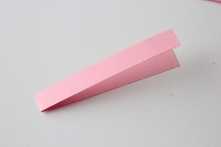 Hearts Garland - fold strip in half